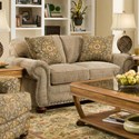 Corinthian 9870 Loveseat - Item Number: 9872