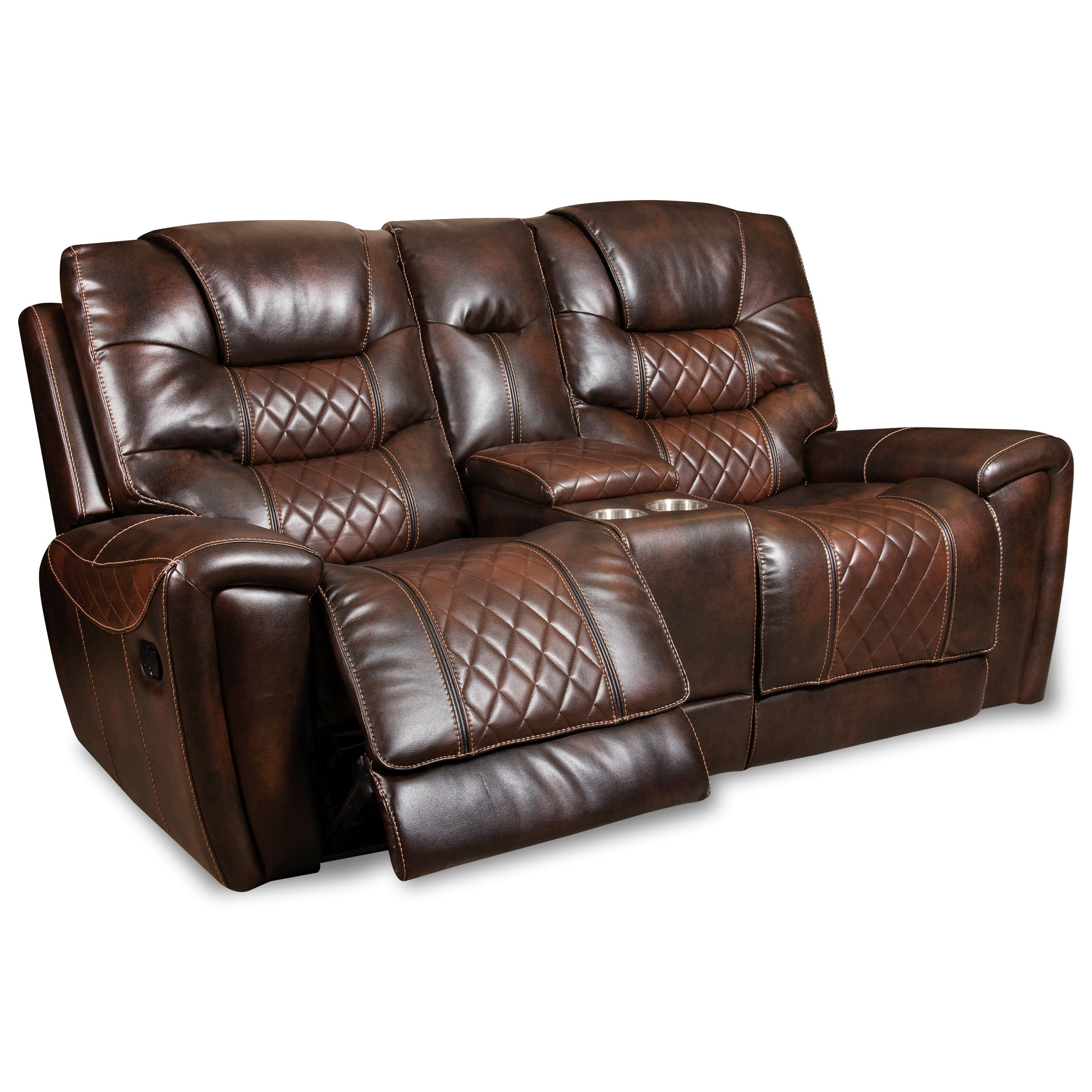 98701 Reclining Loveseat with Console at Virginia Furniture Market