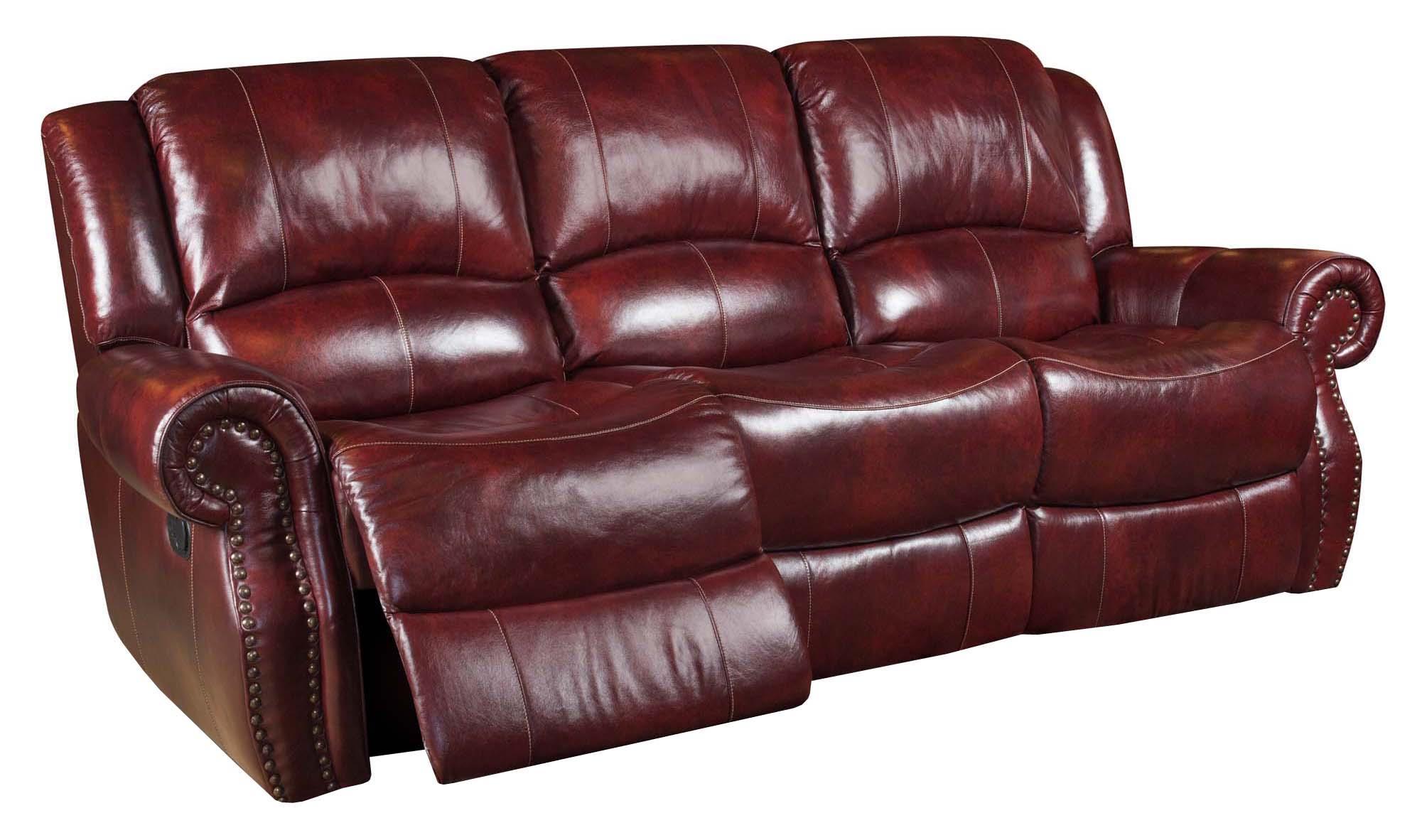 Corinthian Alexander 99901 30 Alexander Leather Reclining Sofa Great American Home Store