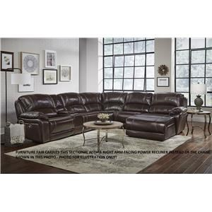 Six Piece Power Leather Sectional