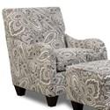 Corinthian Griffin Accent Chair - Item Number: GAC6419-Coronado-Pewter