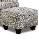 Corinthian Griffin Accent Ottoman - Item Number: GAO6419-Coronado-Pewter
