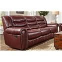 Corinthian L655 Leather Reclining Sofa - Item Number: L655sofa