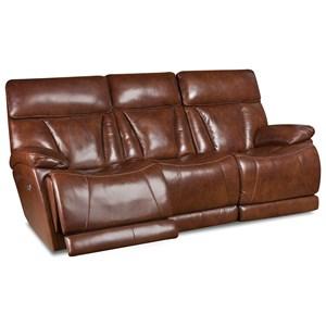 Corinthian L94006 Pwr Headrest Reclining Sofa W/ Lumbar