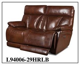 Corinthian L9400 Leather Power Reclining Loveseat