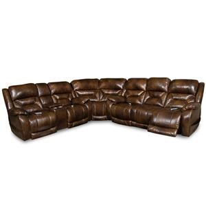 Power Leather Reclining Sectional