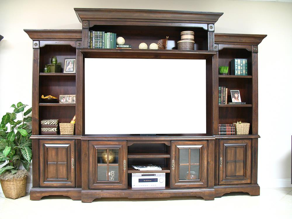Coronado 7349 Cherry 4pc Wall Unit - Item Number: 744256