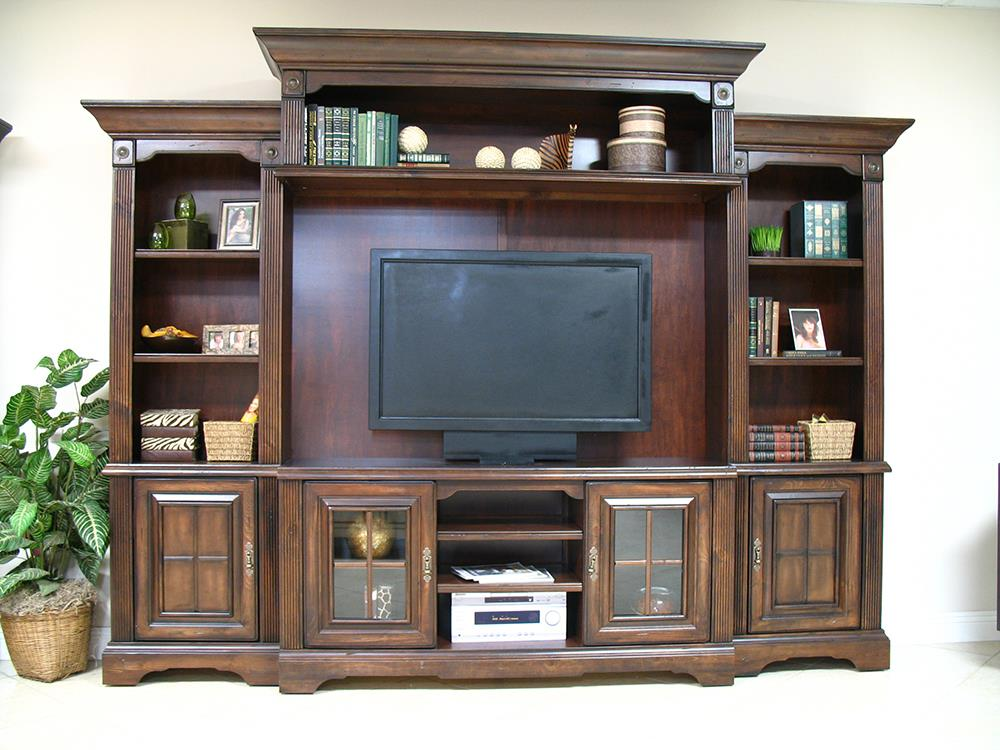 Coronado 7349 Traditional Cherry 5pc Wall Unit - Item Number: P7349A