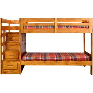 Coronado Ponderosa Twin over Full Stair Bed