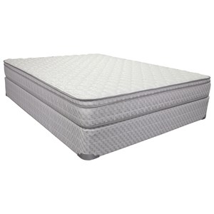 "Corsicana 1010 Cora Foam Euro Top Full 8 1/2"" All Foam Mattress Set"