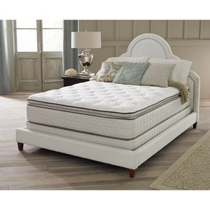 "Corsicana 125 Series Queen 14"" Plush Euro Top Mattress Set"