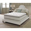 "Corsicana 125 Series Queen 14"" Plush Euro Top Mattress Set - Item Number: 125Q+Wood9-Q"