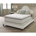 "Corsicana 145 Series Full 14"" Pillow Top Mattress Set - Item Number: 145F+Wood9-F"