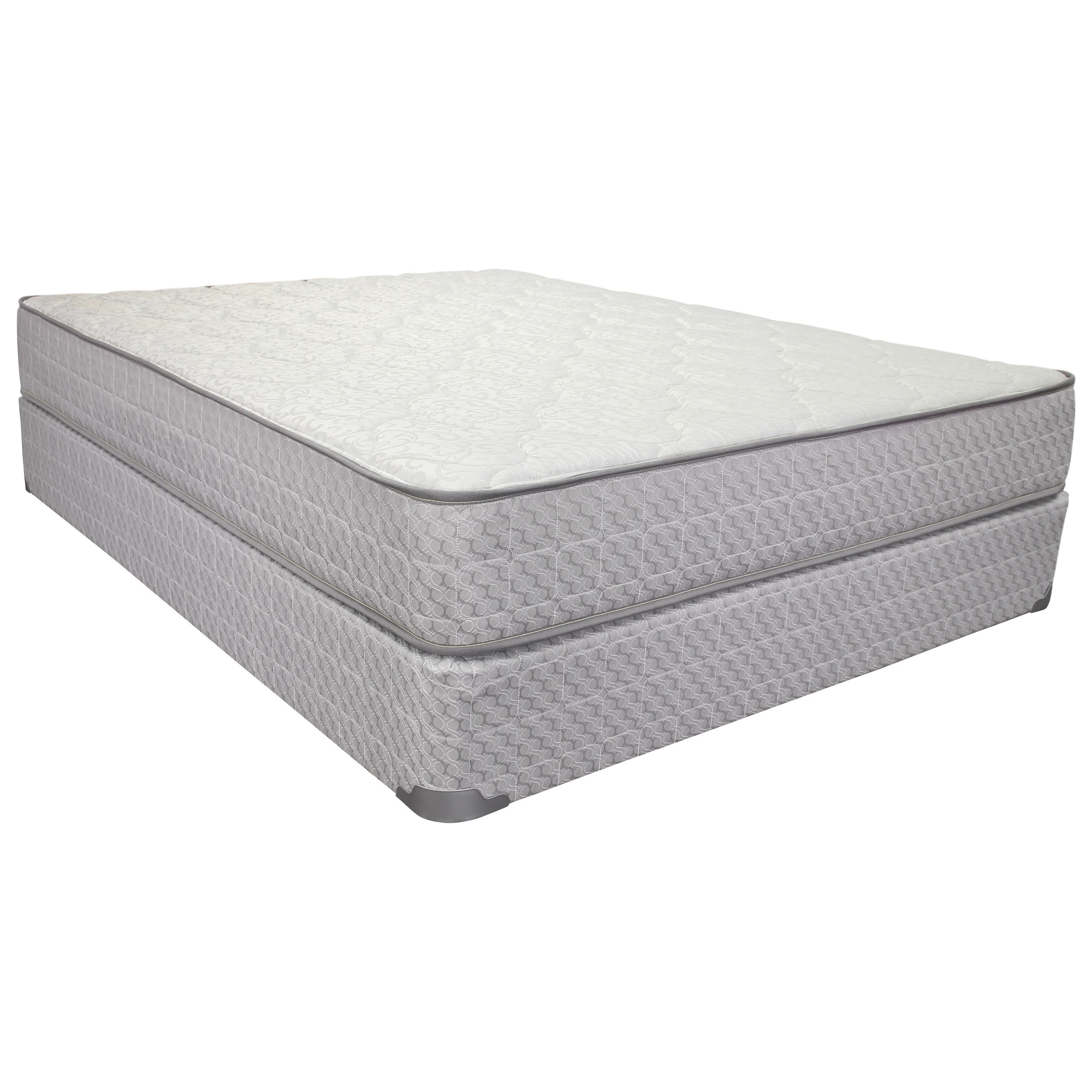 "Corsicana 2000 Merrick Firm King 9 1/2"" Firm Two Sided Mattress Set - Item Number: 2000-K+2xWoodfndtn-TXL"