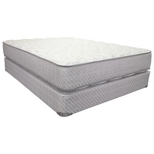 "Corsicana 2005 Merrick Plush Queen 12"" Plush 2 Sided Mattress Set"