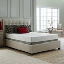 Corsicana 30SS King Gel Memory Foam Mattress Set - Item Number: 30SS-K+2xWood9-TXL