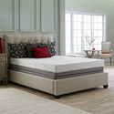Corsicana 60SS Twin Luxury Microcoil Hybrid Mattress Set - Item Number: 60SS-T+Wood9-T