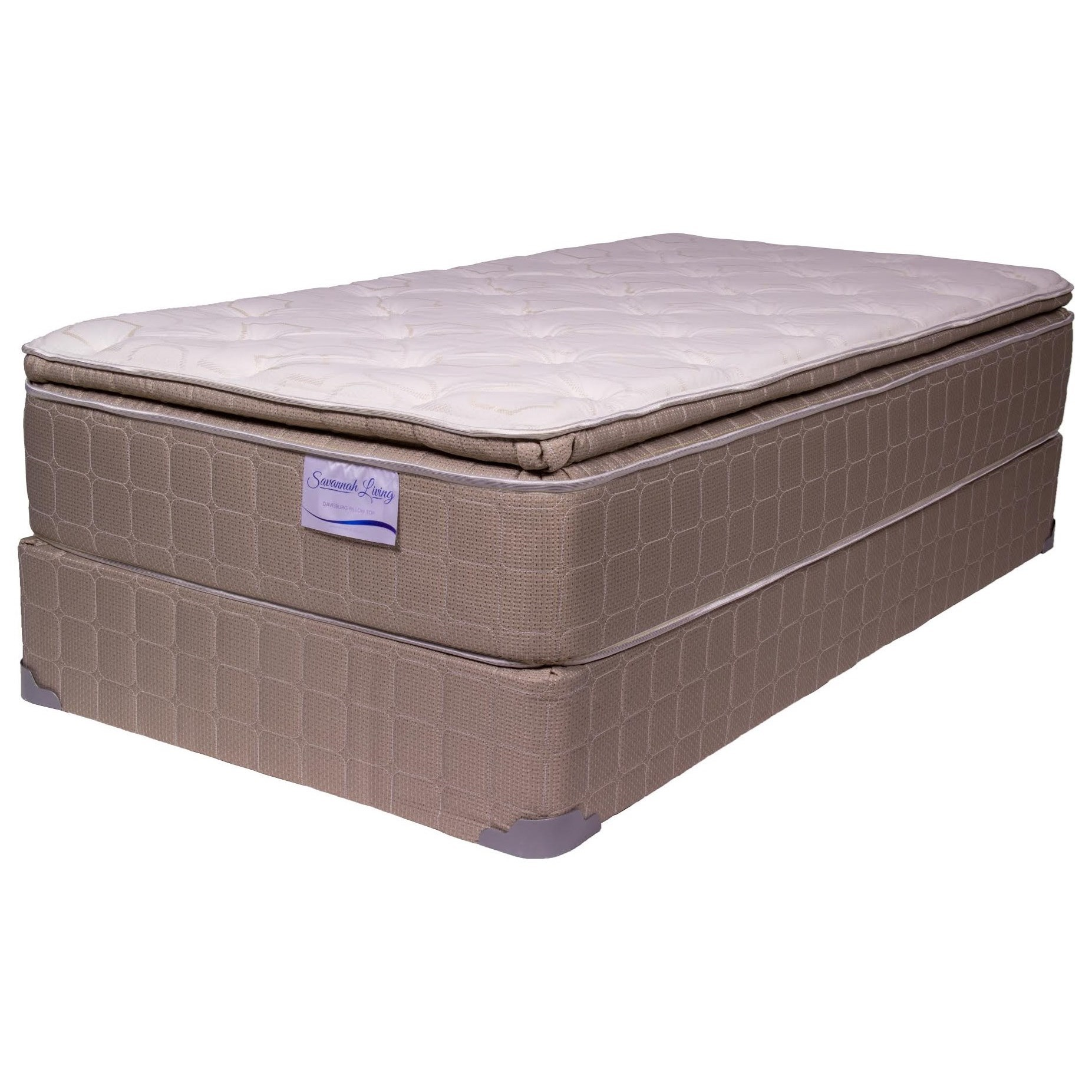 Corsicana Blvd Davisburg Pt Twin 13 Pillow Top Mattress And 9 Wood Foundation Boulevard Home