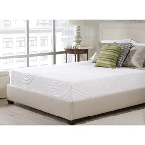 "Corsicana Luxen Bed In A Box Queen 10"" Memory Foam Mattress in a Box"