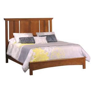 California King Flat Panel Bed With European Footboard