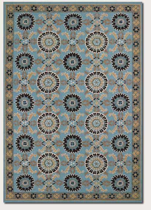 Couristan Starcrest 5.6 x 8 Area Rug : Blue - Item Number: 924115036