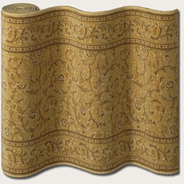 "Couristan English Manor Windermere 31"" Runner : Gold - Item Number: 898001436"