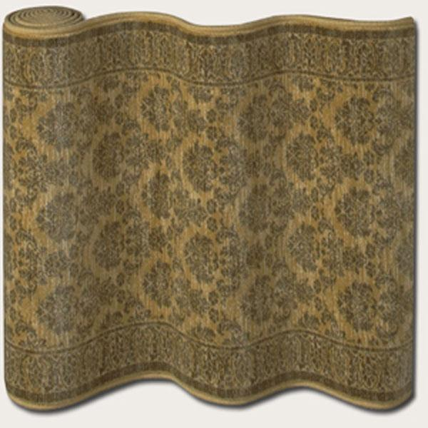 """Couristan English Manor Devonshire 31"""" Runner : Gold - Item Number: 898001537"""