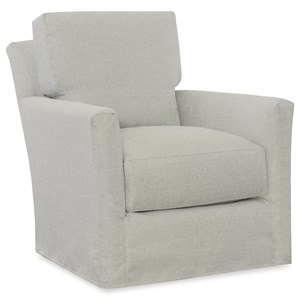 C.R. Laine Accents Murphey Slipcover Swivel Chair