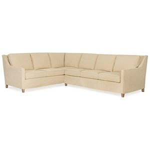 C.R. Laine Jeremy 2 Pc Slipcover Sectional Sofa