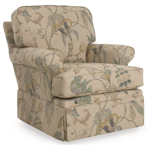 C.R. Laine Keller Skirted Swivel Chair