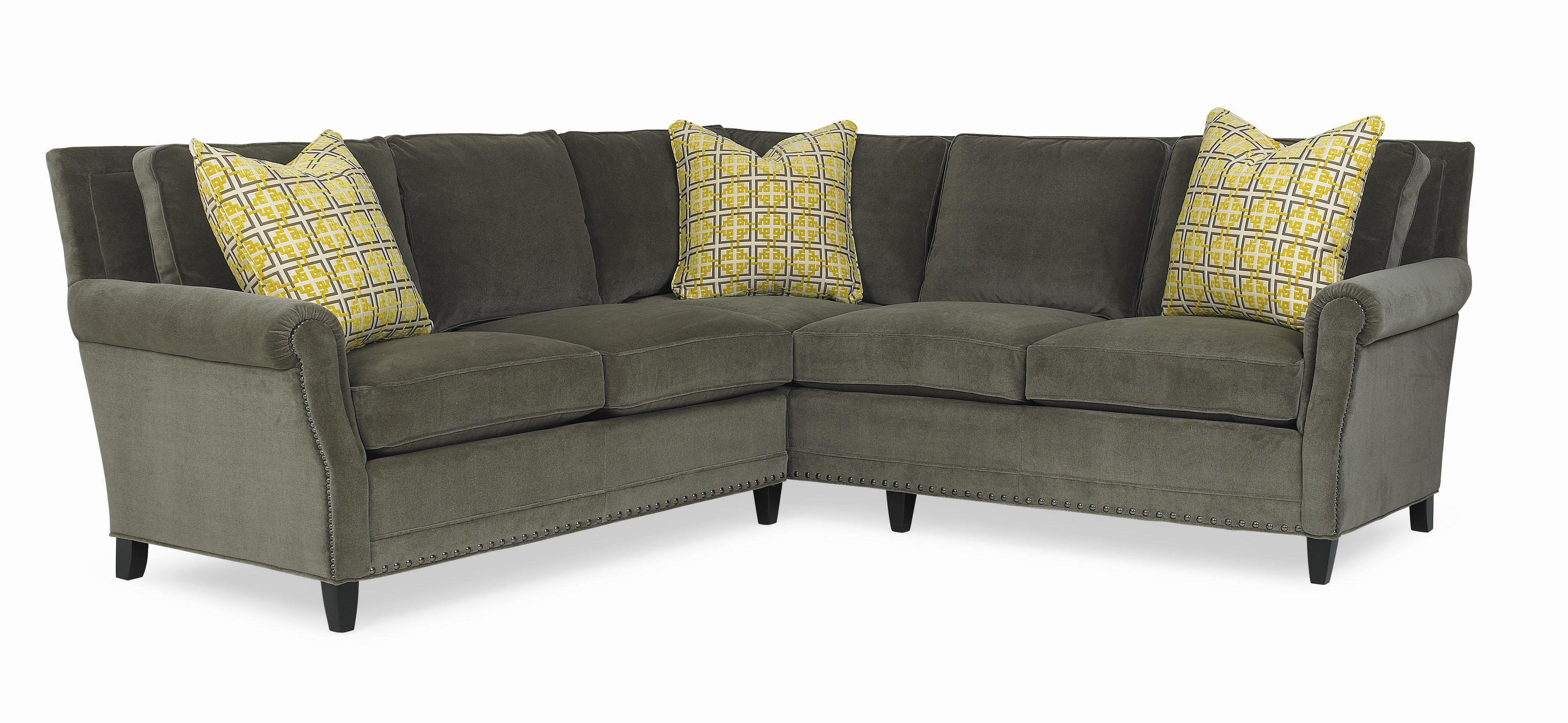 C R Laine Leighton Sectional Sofa With Accent Pillows and