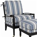C.R. Laine Spool Exposed Wood Accent Chair - 9125 - Shown in Alternate Fabric