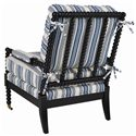 C.R. Laine Spool Exposed Wood Accent Chair - 9125 - Back View