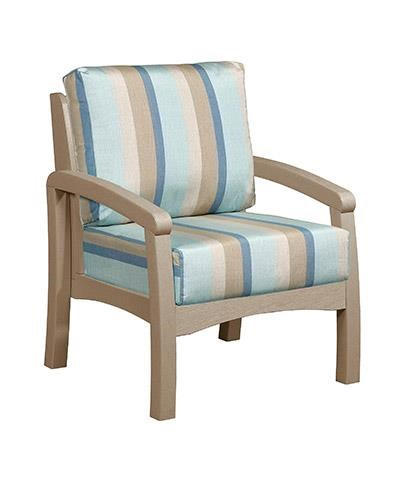 C.R. Plastic Products Bay Breeze Patio Chair With Cushion   Item Number:  DSF161 07