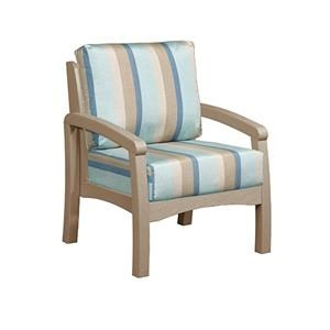 C.R. Plastic Products Bay Breeze Patio Chair With Cushion