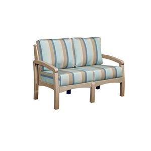 C.R. Plastic Products Bay Breeze Patio Loveseat with Cushion