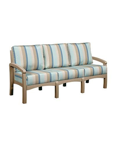 C.R. Plastic Products Bay Breeze Patio Sofa With Cushion   Item Number:  DSF163 07