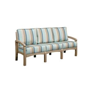 C.R. Plastic Products Bay Breeze Patio Sofa with Cushion