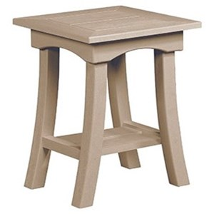 C.R. Plastic Products Bay Breeze Outdoor End Table
