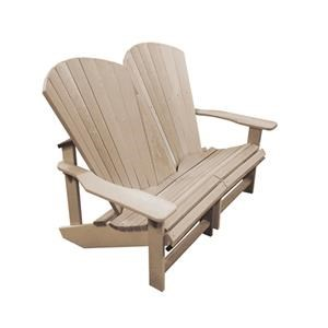 C.R. Plastic Products Adirondack Addy Outdoor Loveseat