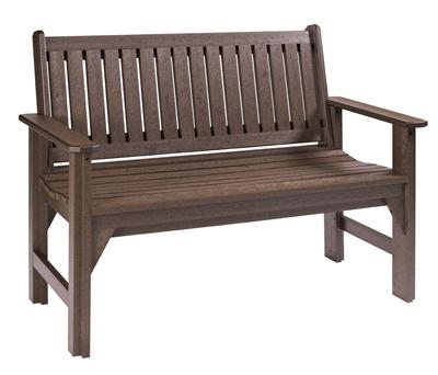 C.R. Plastic Products Adirondack - Chocolate Garden Bench - Item Number: B01-16