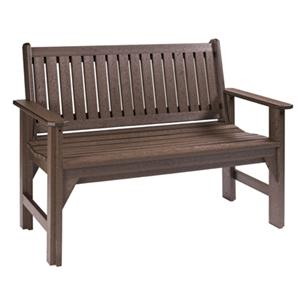 C.R. Plastic Products Adirondack - Chocolate Garden Bench