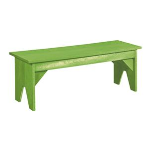C.R. Plastic Products Adirondack - Kiwi Basic Bench