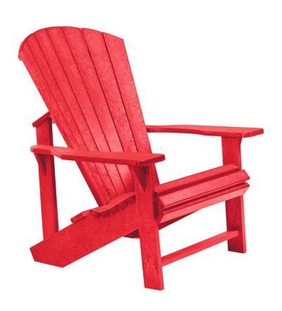 C.R. Plastic Products Adirondack - Red Adirondack Chair - Item Number: C01-01