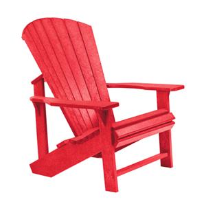 C.R. Plastic Products Adirondack - Red Adirondack Chair