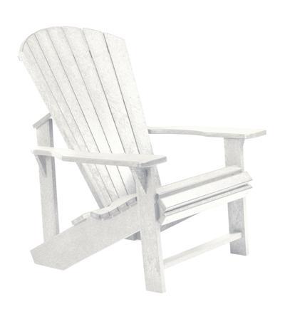 C.R. Plastic Products Adirondack - White Adirondack Chair - Item Number: C01-02