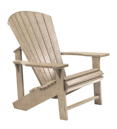 C.R. Plastic Products Adirondack - Beige Adirondack Chair - Item Number: C01-07