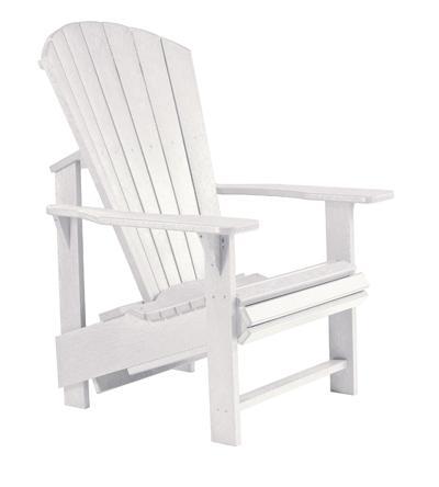 C.R. Plastic Products Adirondack - White Adirondack Upright Chair - Item Number: C03-02
