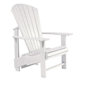 C.R. Plastic Products Adirondack - White Adirondack Upright Chair