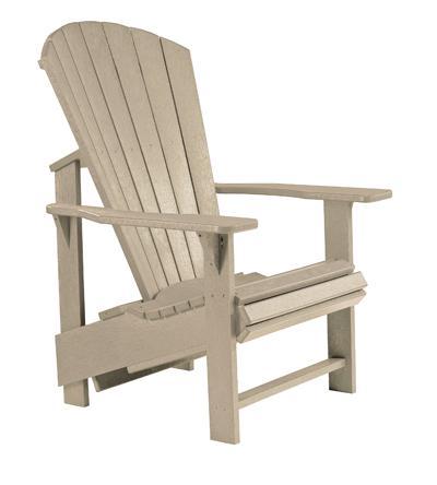 C.R. Plastic Products Adirondack - Beige Adirondack Upright Chair - Item Number: C03-07